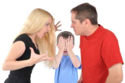Casal separado com filhos