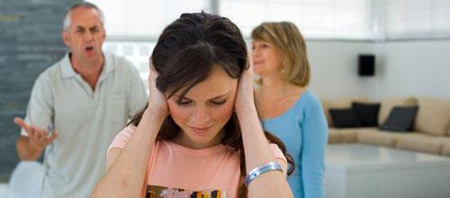 Conflitos de adolescentes com pais