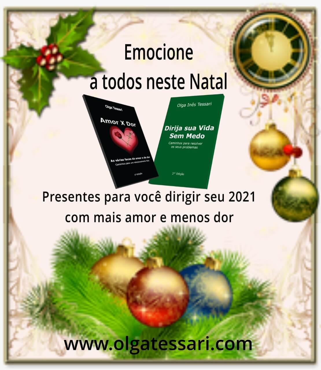 Presentes de Natal para um Ano Novo Feliz