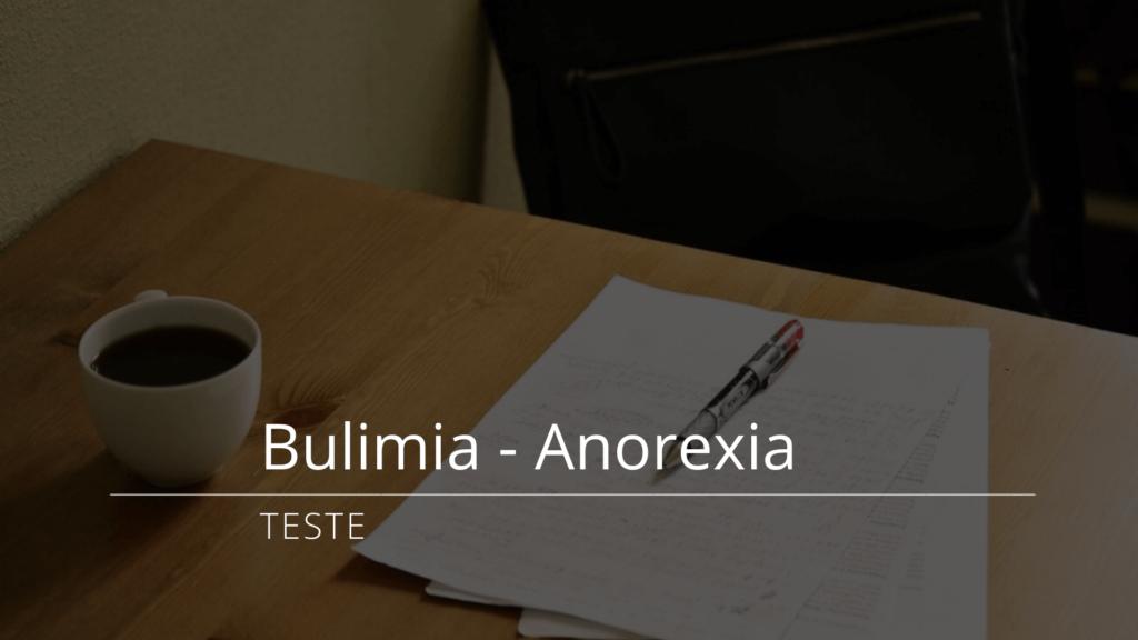 Teste de Bulimia anorexia