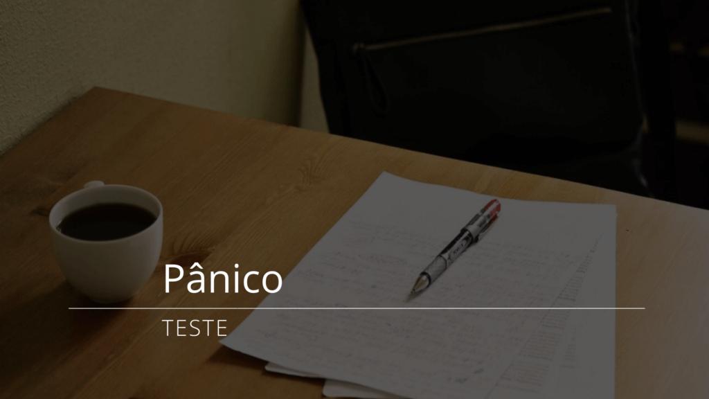Teste de pânico